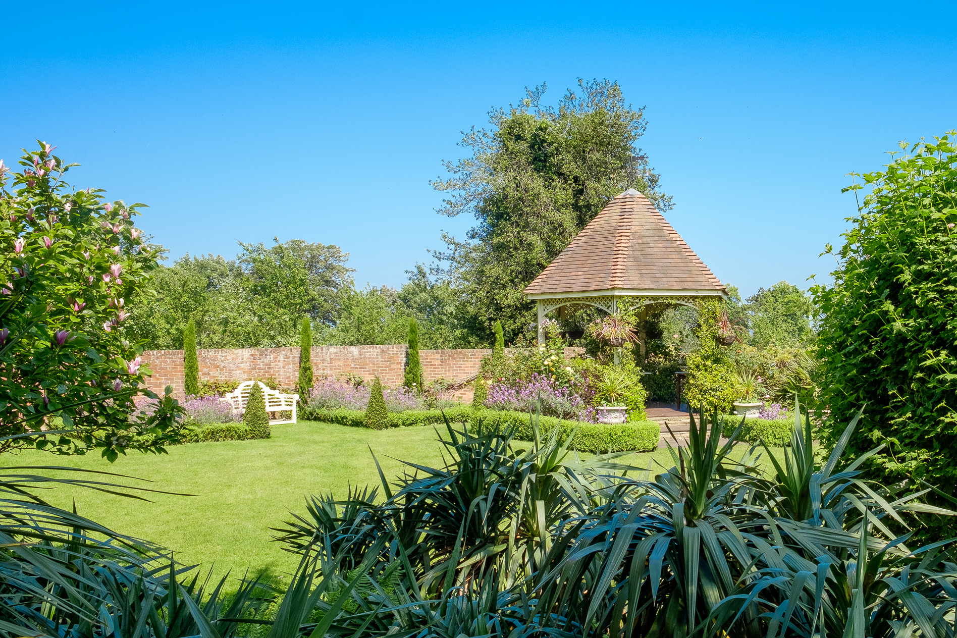 Garden view The Knowle Country House Kent Wedding Venue