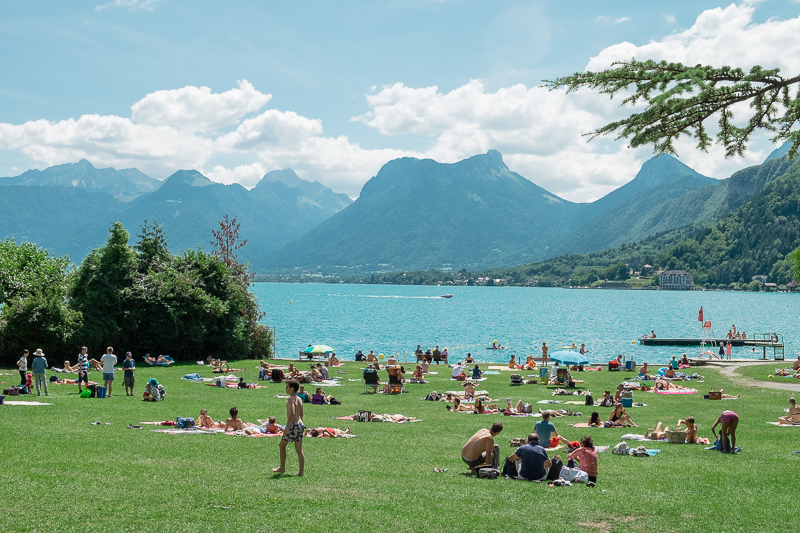 Private beaches on Lake Annecy by Destination Wedding Photographer Oakhouse Photography