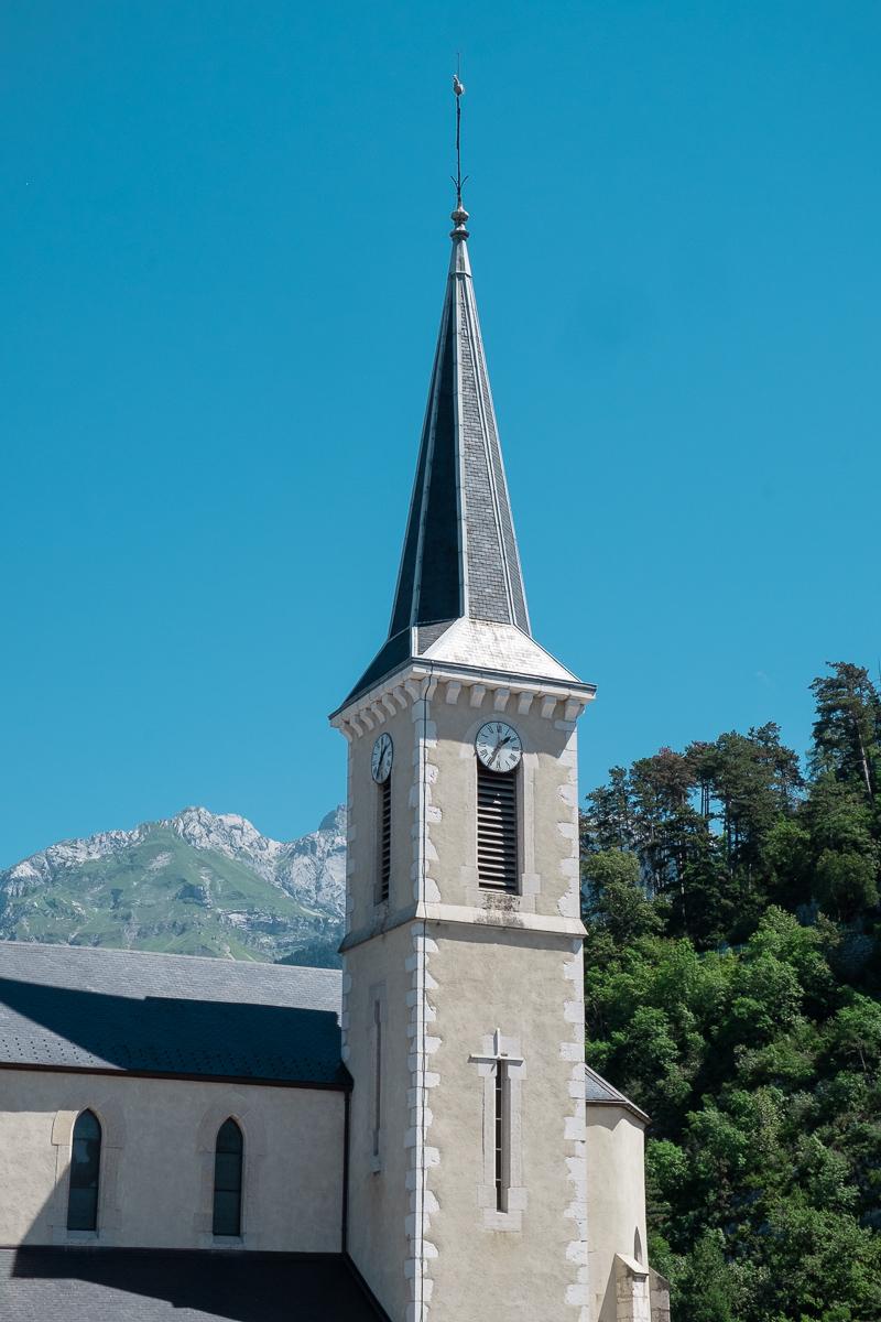 Church at Duingt by destination wedding photographer Oakhouse Photography
