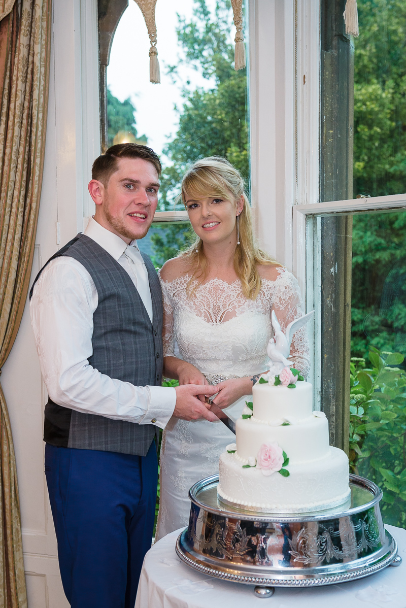 Cake cutting - Oakhouse Photography at The Knowle Country House