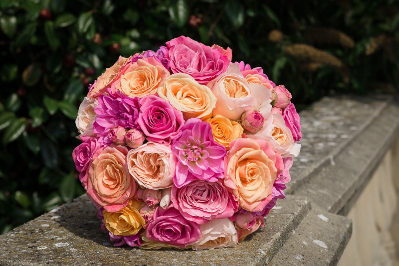 Wedding Bouquet at South Lodge Hotel, photographed by Oakhouse Photography
