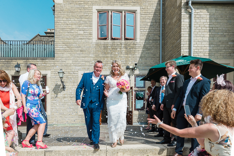 Confetti shot at South Lodge Hotel