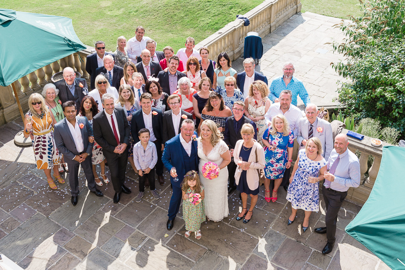 Wedding Group shot South Lodge Hotel by Oakhouse Photography