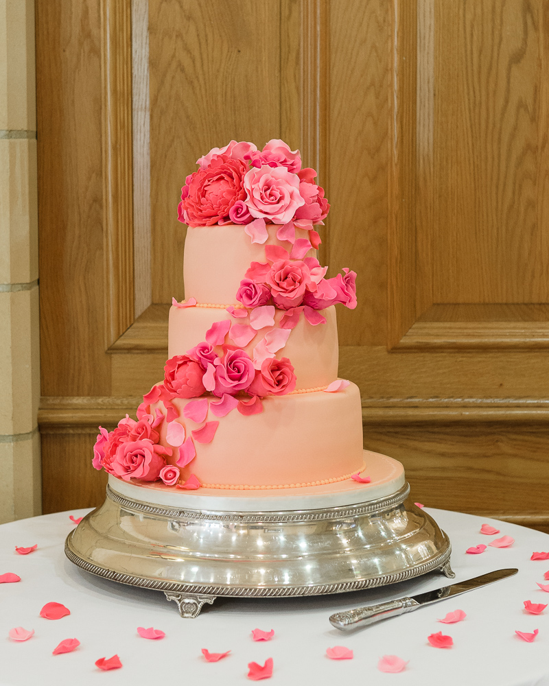 Wedding Cake at South Lodge Hotel, Horsham photographed by Oakhouse Photography