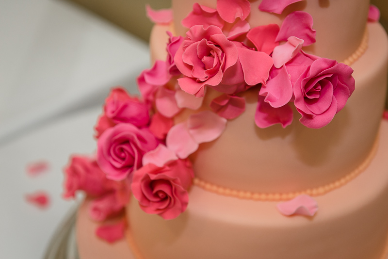 Wedding Cake at South Lodge Hotel, photographed by Oakhouse Photography