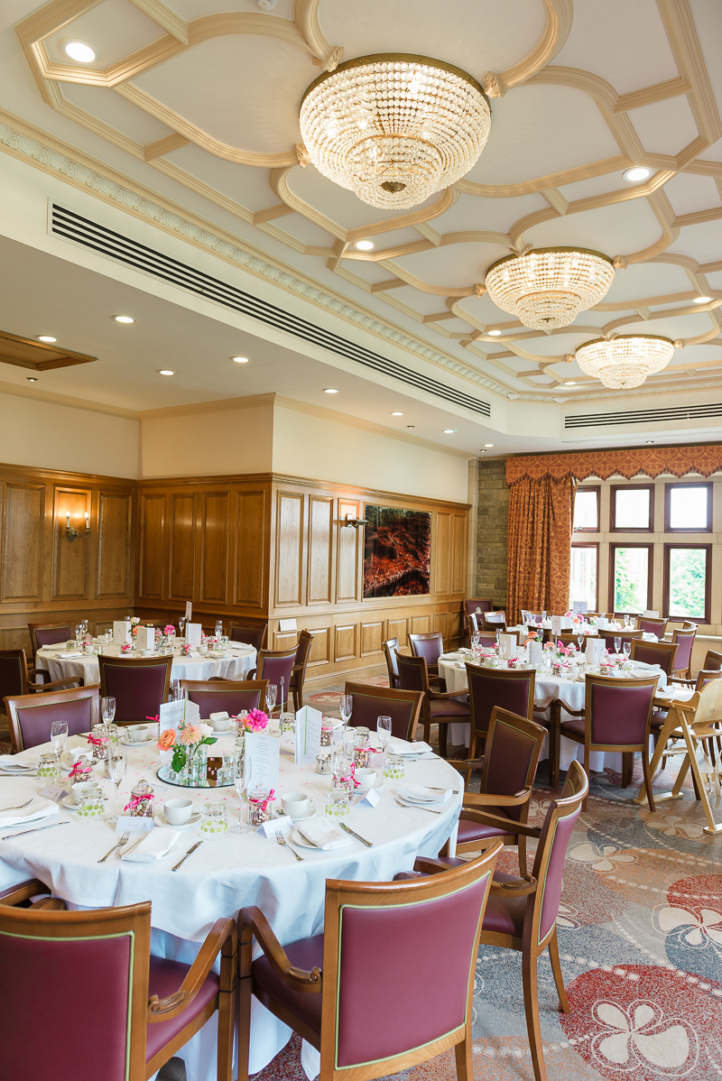 Gladstone Room Wedding Reception at South Lodge Hotel, photographed by Oakhouse Photography