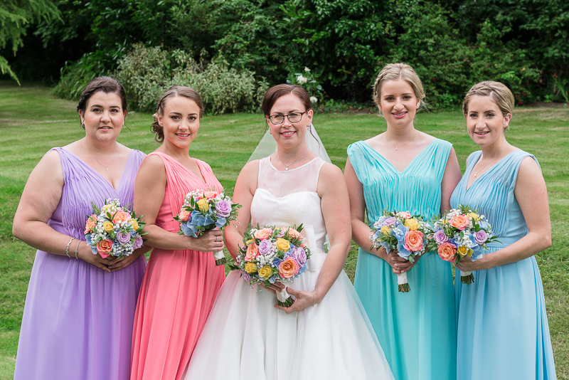 Bride and Bridesmaids Rowhill Grange Hotel Wedding | Oakhouse Photography
