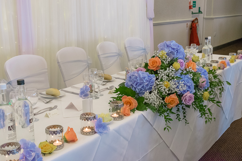 The Top Table Rowhill Grange Hotel Wedding | Oakhouse Photography