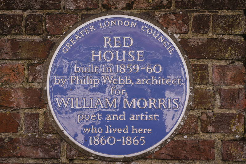Blue Plaque at The Red House Bexley | Oakhouse Photography