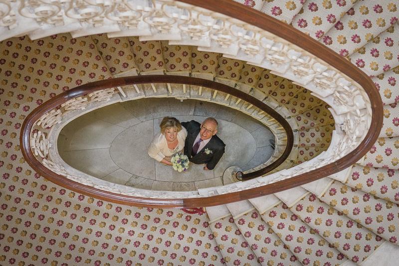 Staircase Danson House Bexley Wedding | Oakhouse Photography