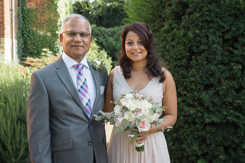 Bride and Father at The Manor Gatehouse Dartford Wedding | Oakhouse Photography