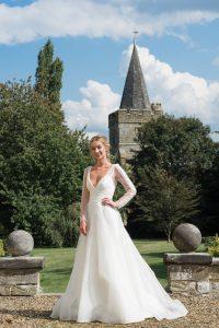 Bride and church