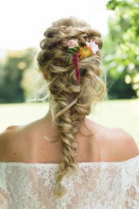 Bridal hair detail by Oakhouse Photography