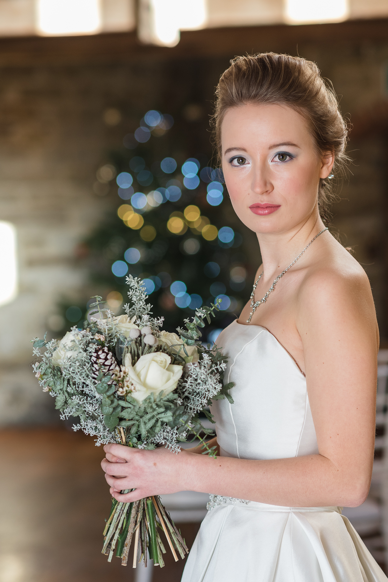 Christmas Bridal Photo Shoot | Oakhouse Photography