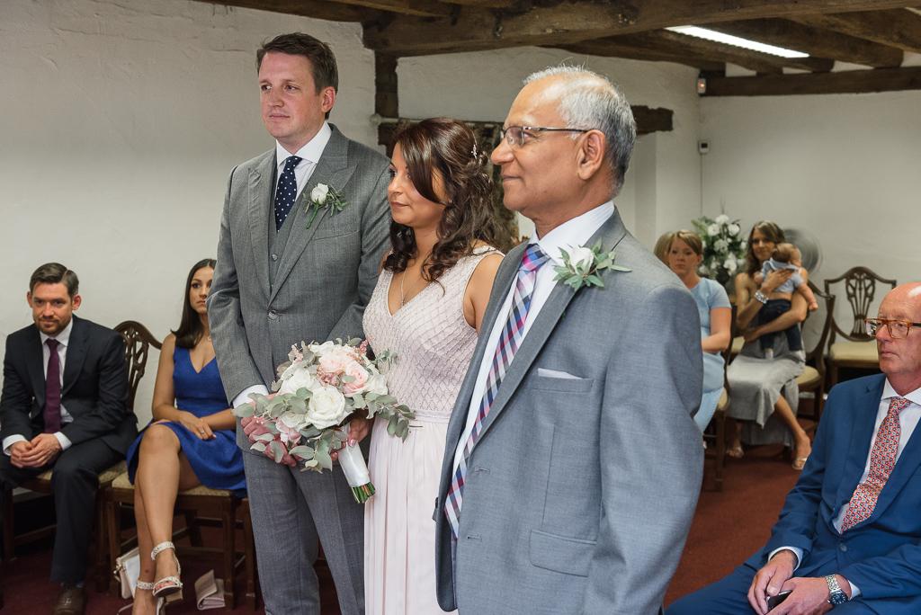 Wedding Ceremony atThe Manor Gatehouse Dartford Wedding | Kent Wedding Photographers | Oakhouse Photography