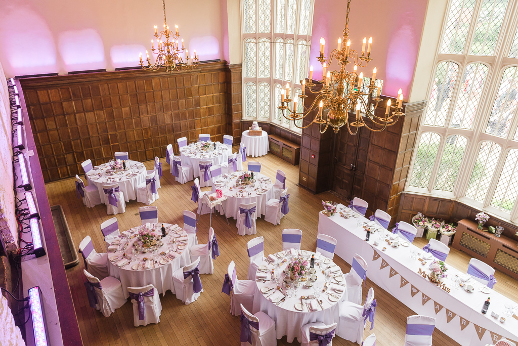 Overhead view of The Great Hall at Hall Place Bexley | Oakhouse Photography