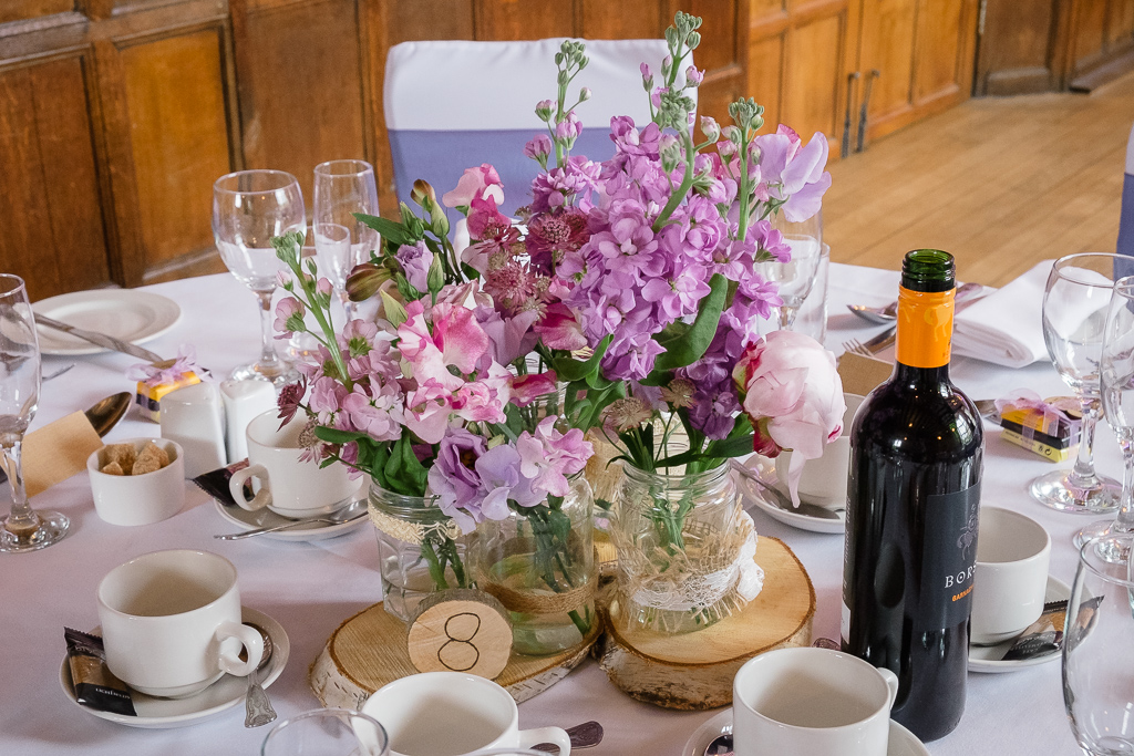 Table set-up for wedding reception at Hall Place Bexley | Oakhouse Photography