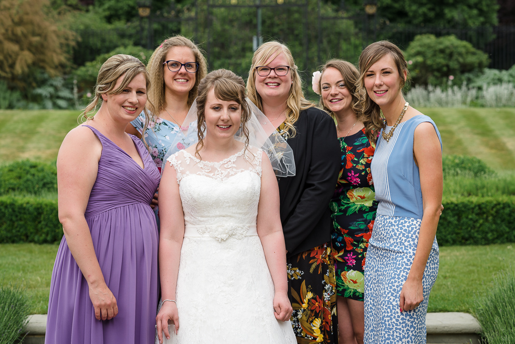 Bride and her friends at Hall Place Bexley Kent wedding reception | Oakhouse Photography