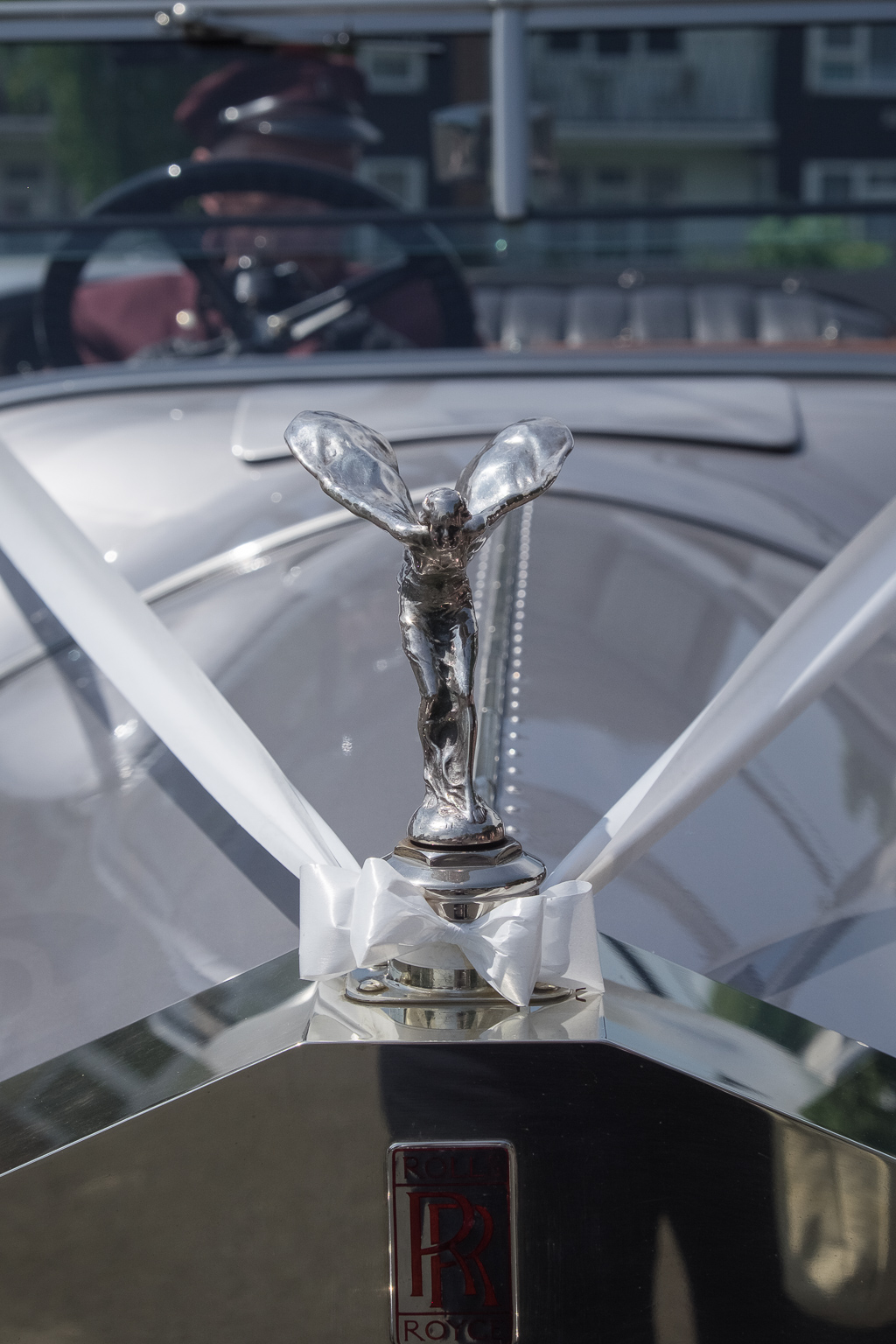 Front of Rolls Royce Silver Ghost Soft Top wedding car | Oakhouse Photography