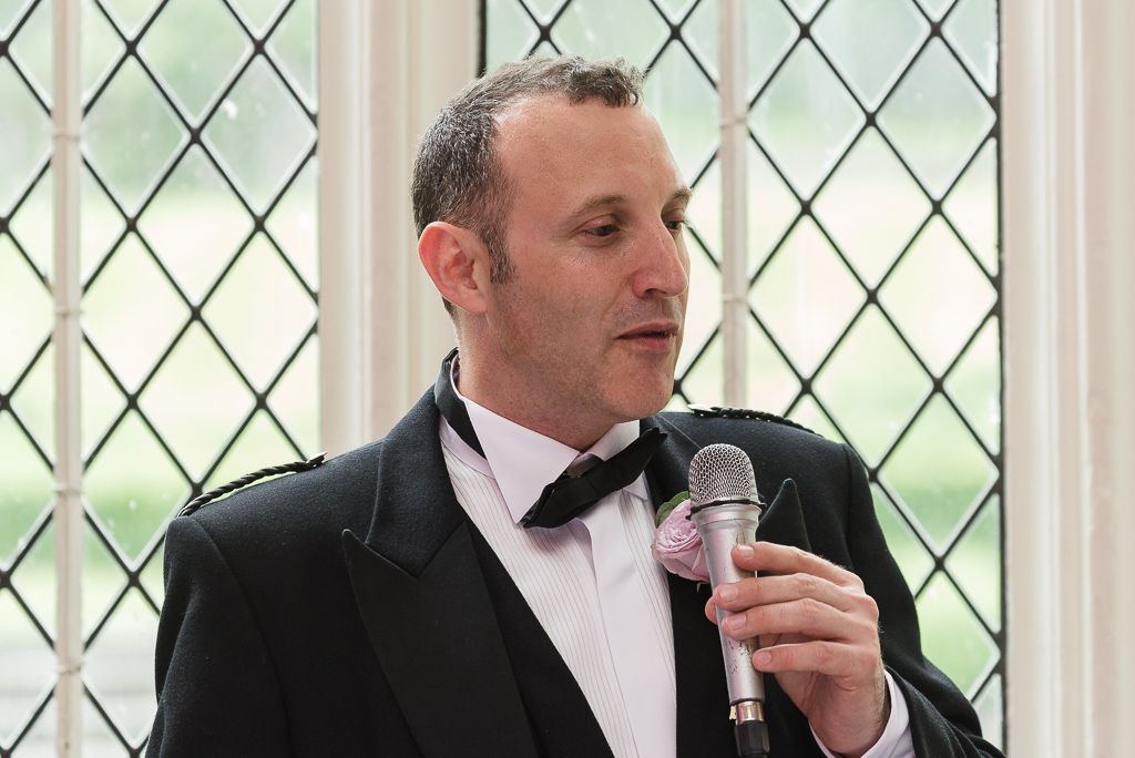 Best man's speech at Hall Place Bexley | Oakhouse Photography