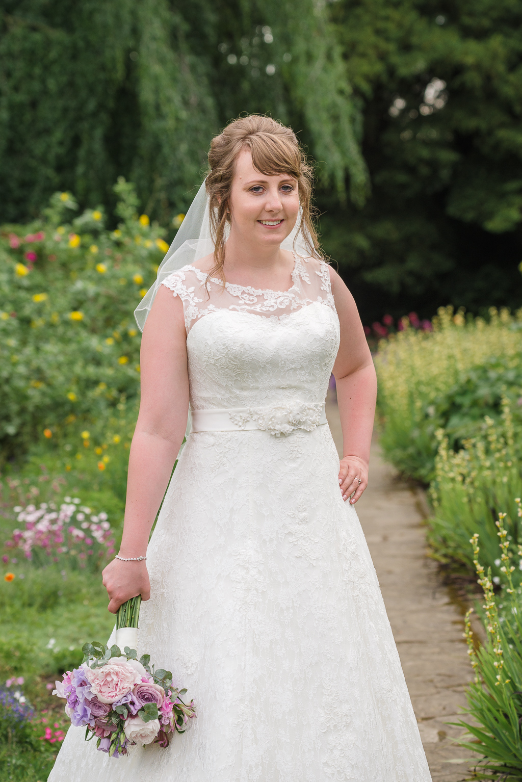 Bridal portrait in the gardens at Hall Place Bexley Kent | Oakhouse Photography