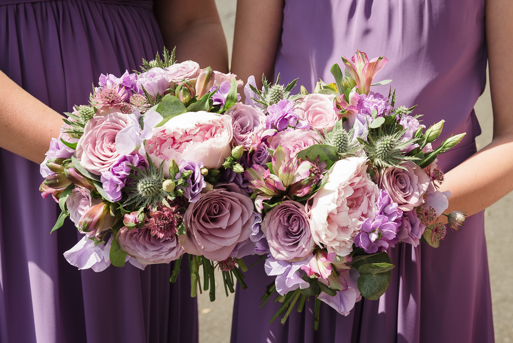 Bridesmaids bouquets for a summer wedding in Crayford Kent | Oakhouse Photography