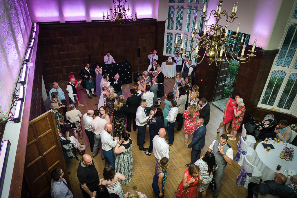Overhead view of dancing at Hall Place wedding in Bexley | Oakhouse Photography