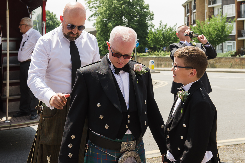 Groom with ushers getting ready at St Paulinus Church Crayford | Crayford Wedding Photographers | Oakhouse Photography