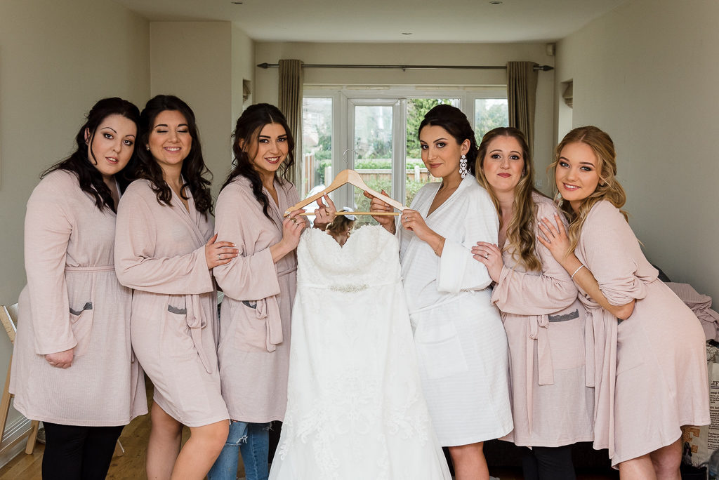 Bride and bridesmaids before the wedding | Sidcup Wedding of Becky & Hugo | Oakhouse Photography