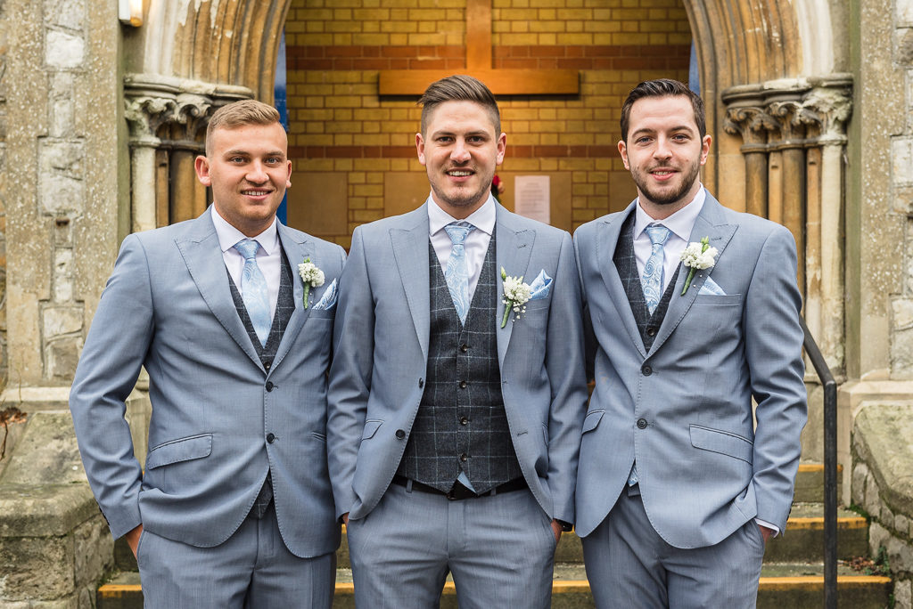 Groom with best man and usher | Sidcup Wedding of Becky & Hugo | Oakhouse Photography