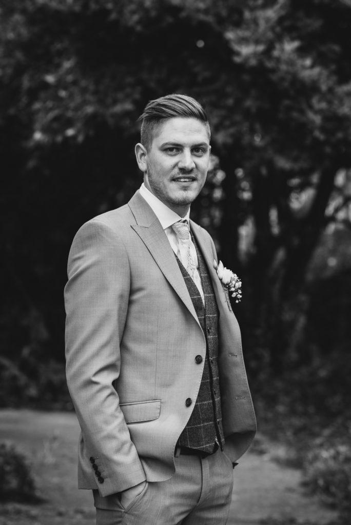 Groom portrait | Sidcup Wedding of Becky & Hugo | Oakhouse Photography