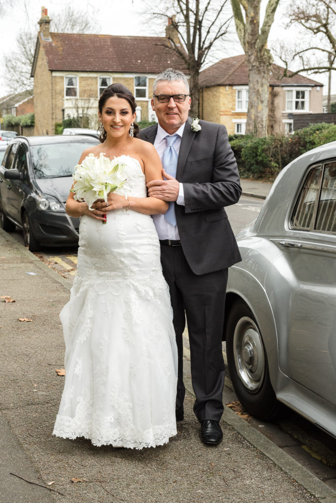 Bride and her father | Sidcup Wedding of Becky & Hugo | Oakhouse Photography