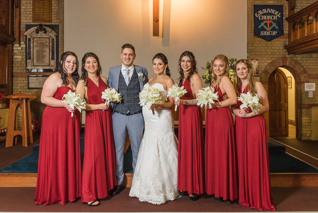 Bride, groom and bridemaids | Sidcup Wedding of Becky & Hugo | Oakhouse Photography
