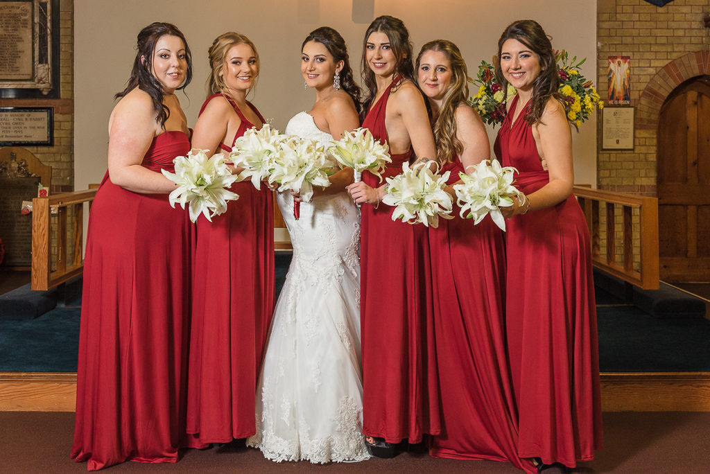 Bride and bridesmaids | Sidcup Wedding of Becky & Hugo | Oakhouse Photography