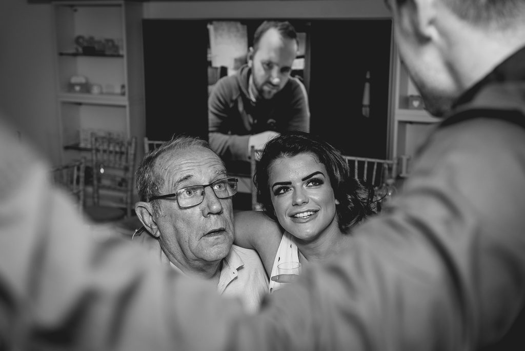 Guests celebrating at the wedding reception | Greenhithe Wedding Photographer | Oakhouse Photography