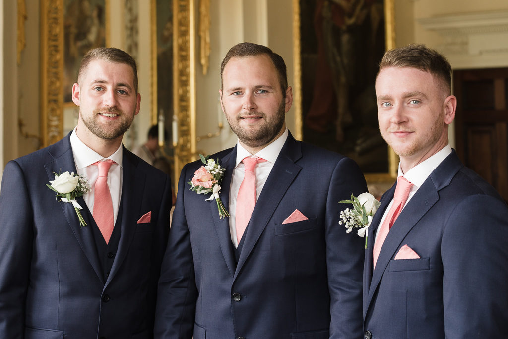 Groom and best men at Danson House Bexley wedding | Oakhouse Photography