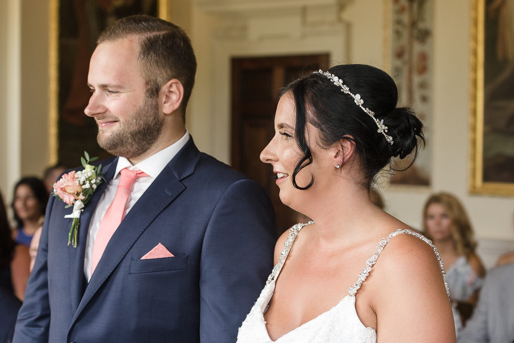 Bride and groom at Danson House Bexley wedding | Oakhouse Photography