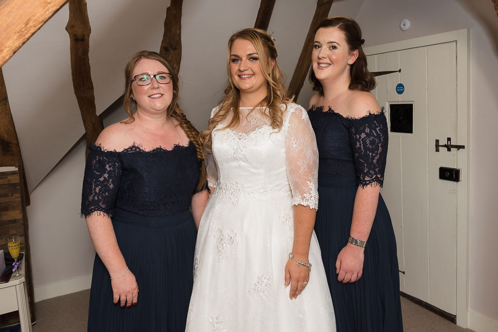 Bride and bridesmaids at The Sun Inn Faversham Kent | Oakhouse Photography
