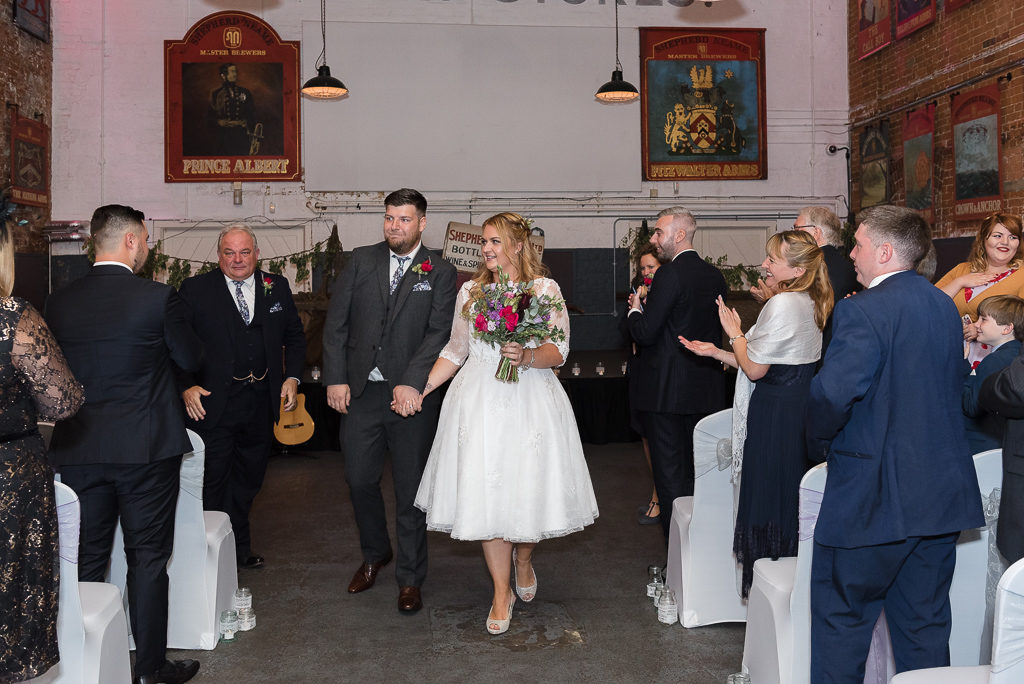 Wedding ceremony at The Old Brewery Store Shepherd Neame Brewery Faversham | Oakhouse Photography