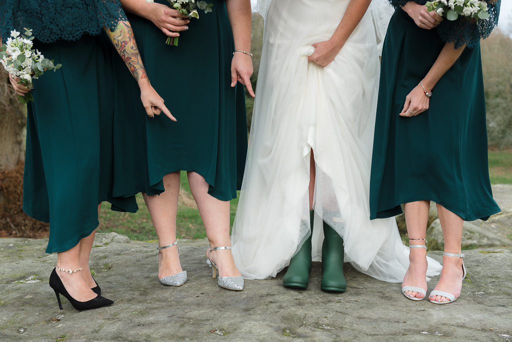 The Mount Edgcumbe |Wedding Photographers Oakhouse Photography | Bride and Bridesmaids