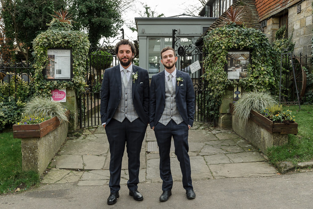 Wedding Photographers Oakhouse Photography | Groom and Best Man