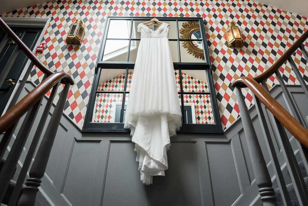 The Mount Edgcumbe |Wedding Photographers Oakhouse Photography | Wedding Dress