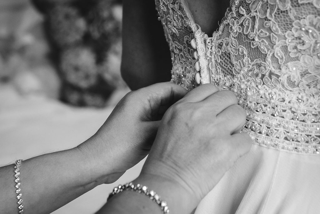 The Mount Edgcumbe |Wedding Photographers Oakhouse Photography | Dress Detail