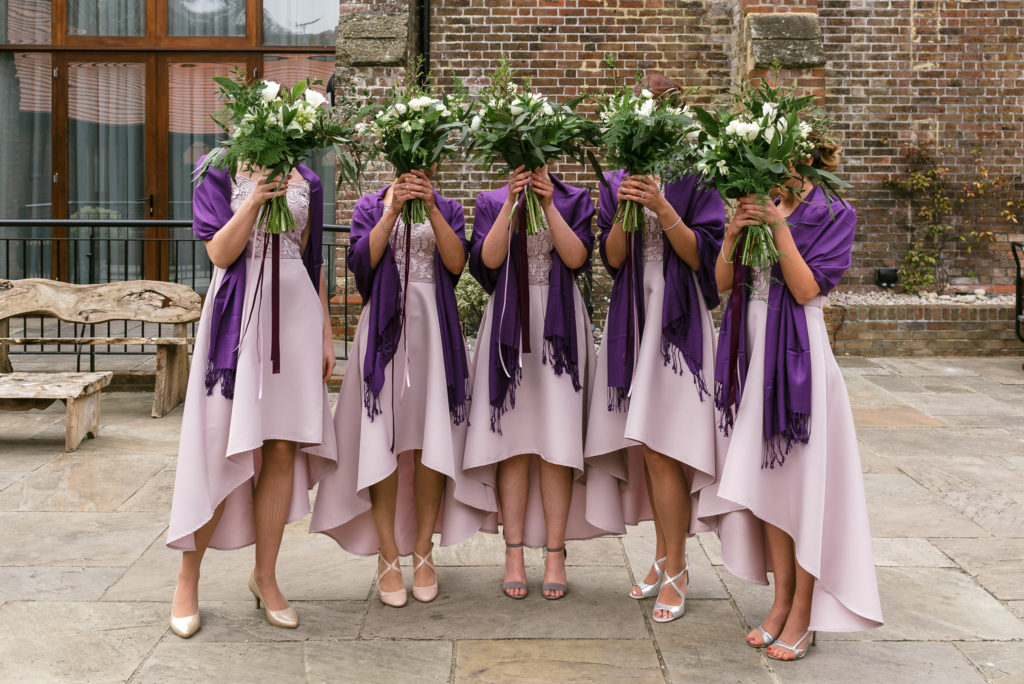 Long Furlong Barn | Oakhouse Photography | Bridesmaids Portrait