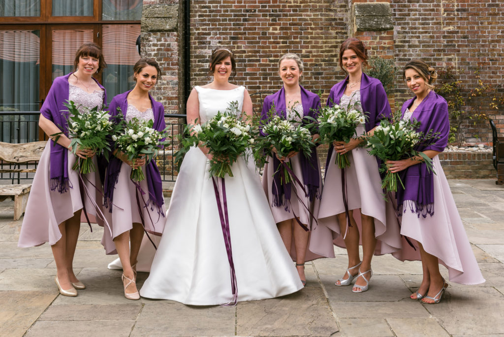 Long Furlong Barn | Oakhouse Photography | Bride and Bridesmaids Portrait