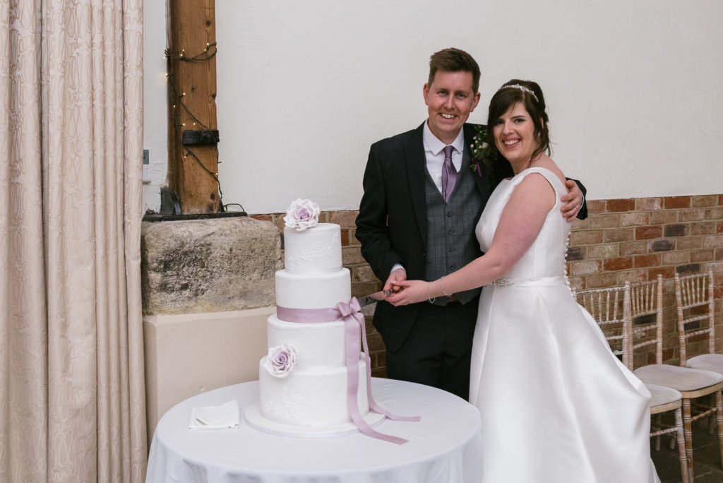 Long Furlong Barn | Wedding | Oakhouse Photography | Cake Cutting
