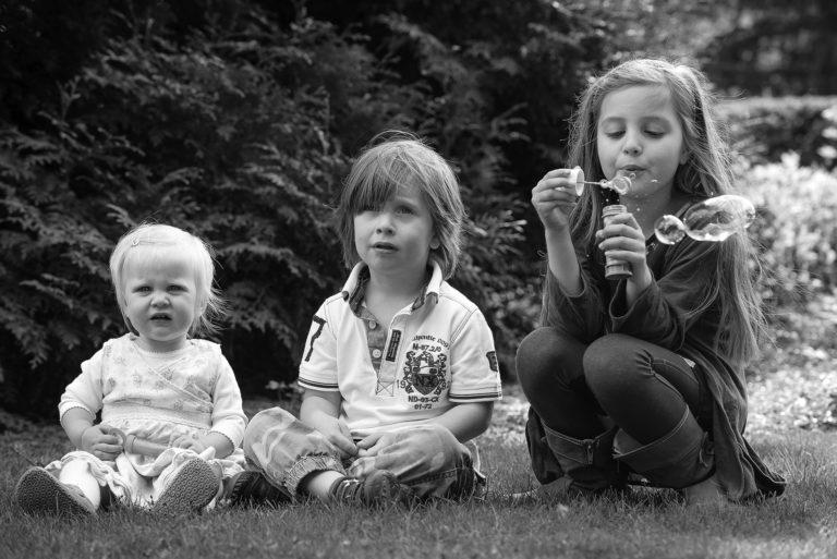 Sibling Bubble Fun