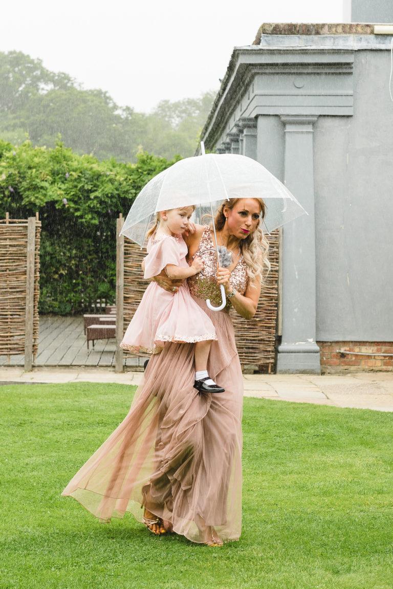 Bridesmaid in the Rain