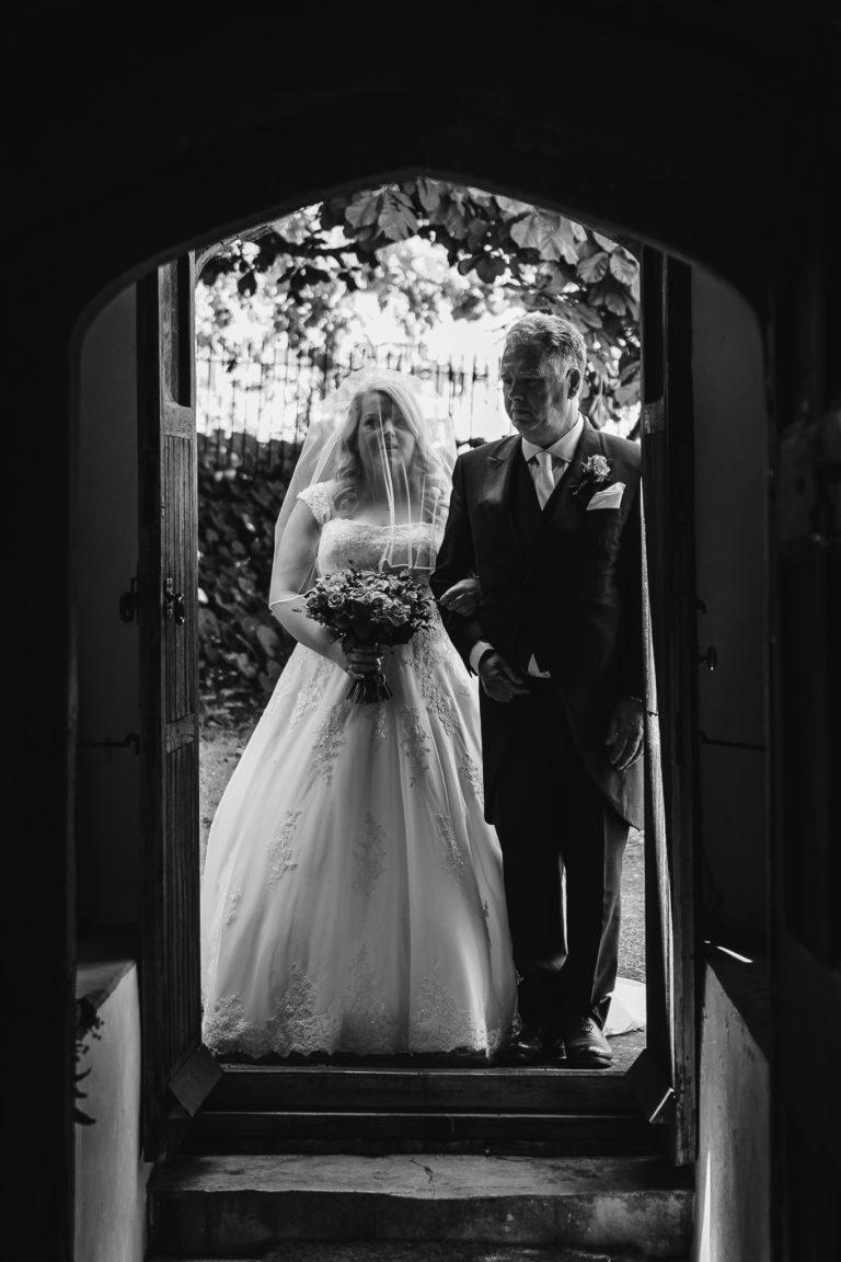 Dorset Wedding - Entering the Church