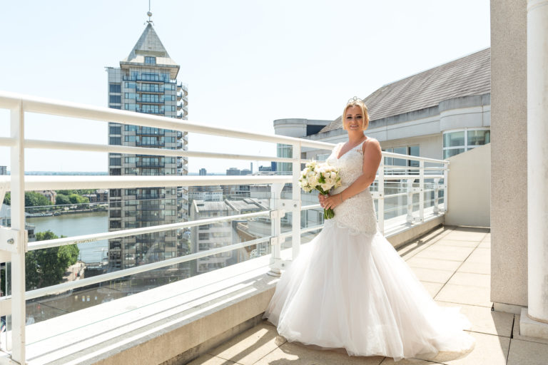 Bride at Chelsea Harbour